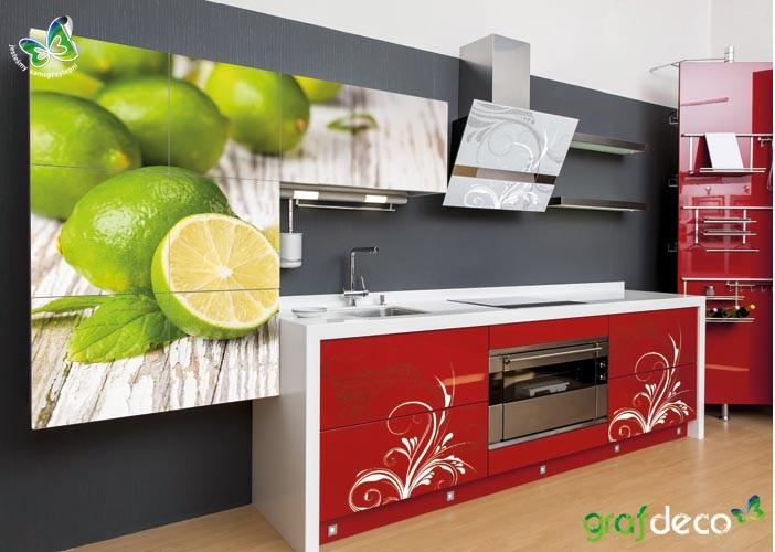 Fototapety do kuchini - wizualizacja fototapety limonki